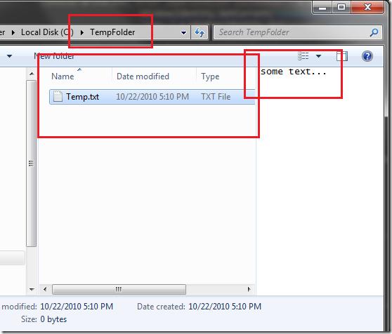 TempFolder